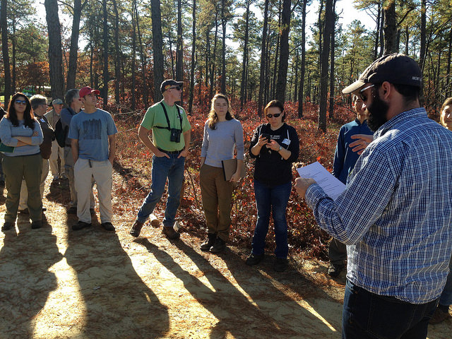 1st Stop: Pine Island Cranberry farm with Brian Kieffer of Pine Creek Forestry, LLC Photo by Inga La Puma