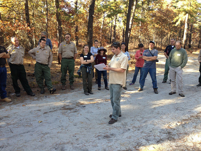 Bill Zipse of the New Jersey Forestry Department at the Whiting site. Photo by Inga La Puma