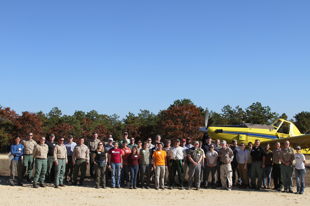 The whole field trip group at Coyle Field, November 4th, 2015
