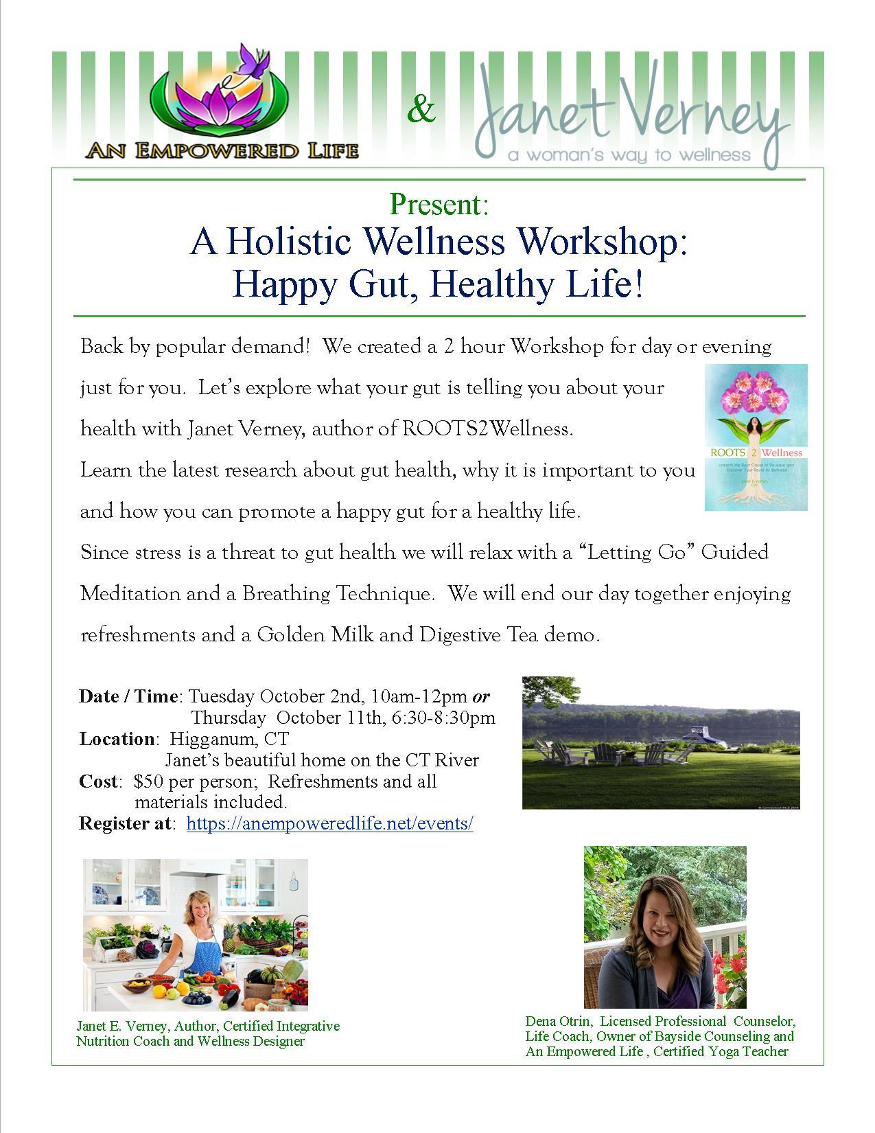A Holistic Wellness Workshop: Happy Gut, Healthy Life