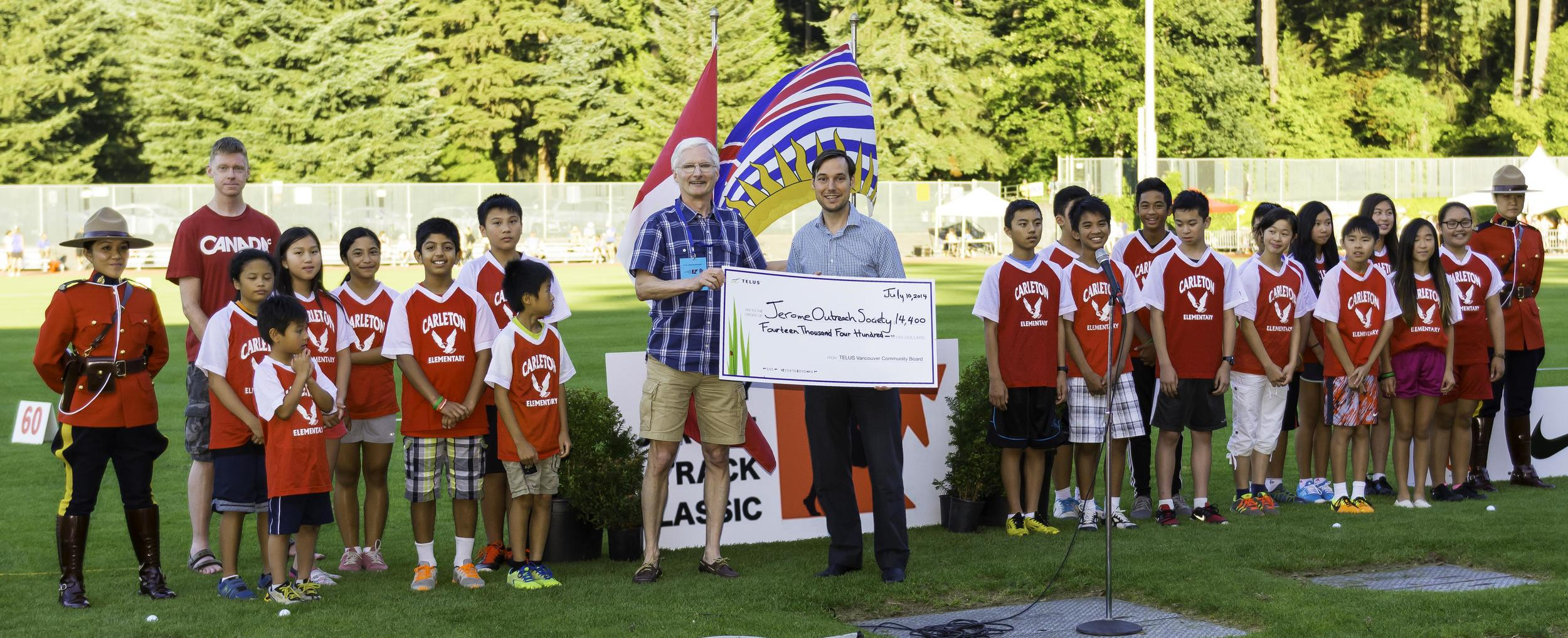 TELUS supports the Jerome Outreach Society's work with youth and sport