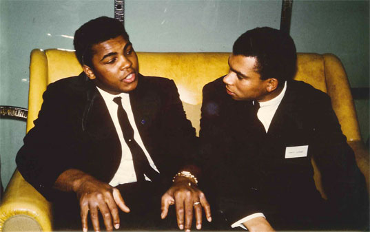 Muhammad Ali with Harry Jerome