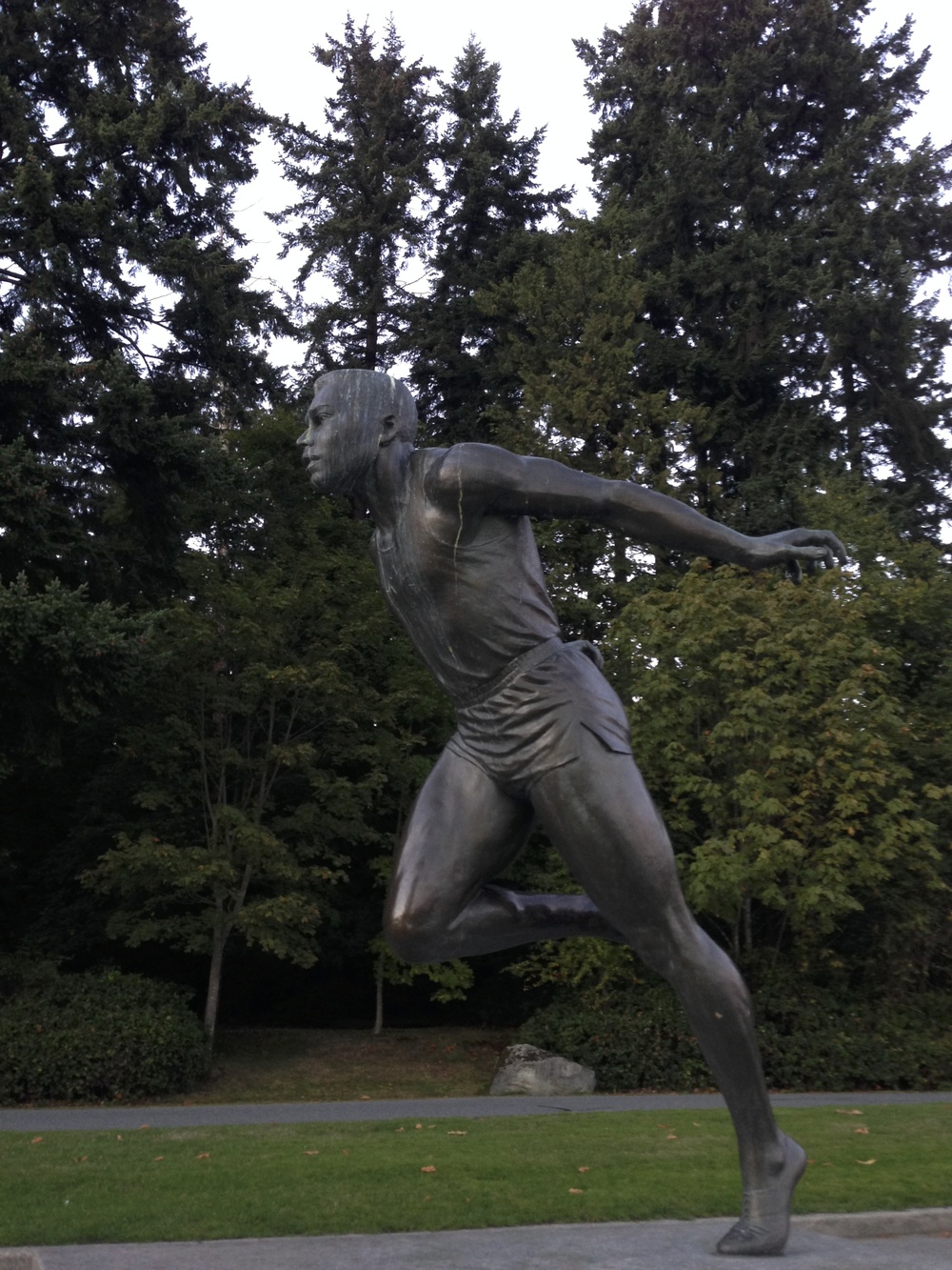Jerome Statue at Brockton Point in Stanley Park