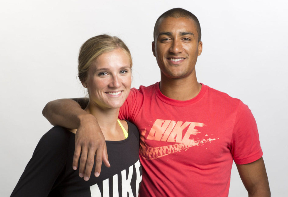 Brianne Theisen- Eaton and Ashton Eaton