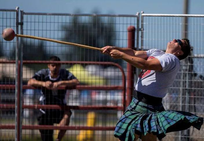 Josh Goldthorp at Antigonish Highland Games in Nova Scotia