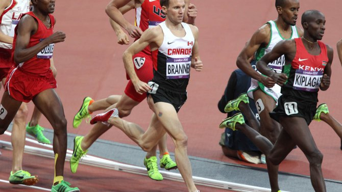 Nathan Brannen currently leads Canada's 1500m