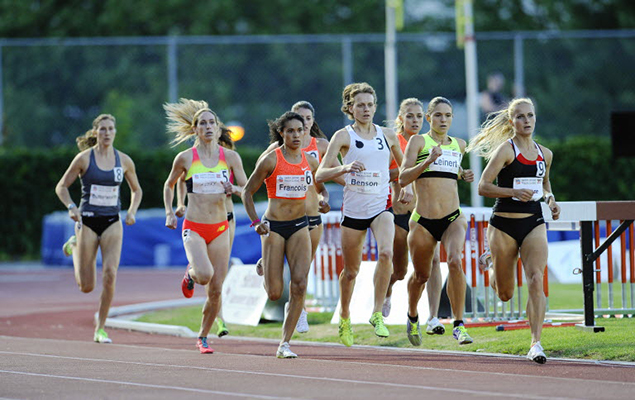 Jessica Smith was part of a tight 800-metre field on Monday a Swangard Stadium. (Mark van Manen/PNG)