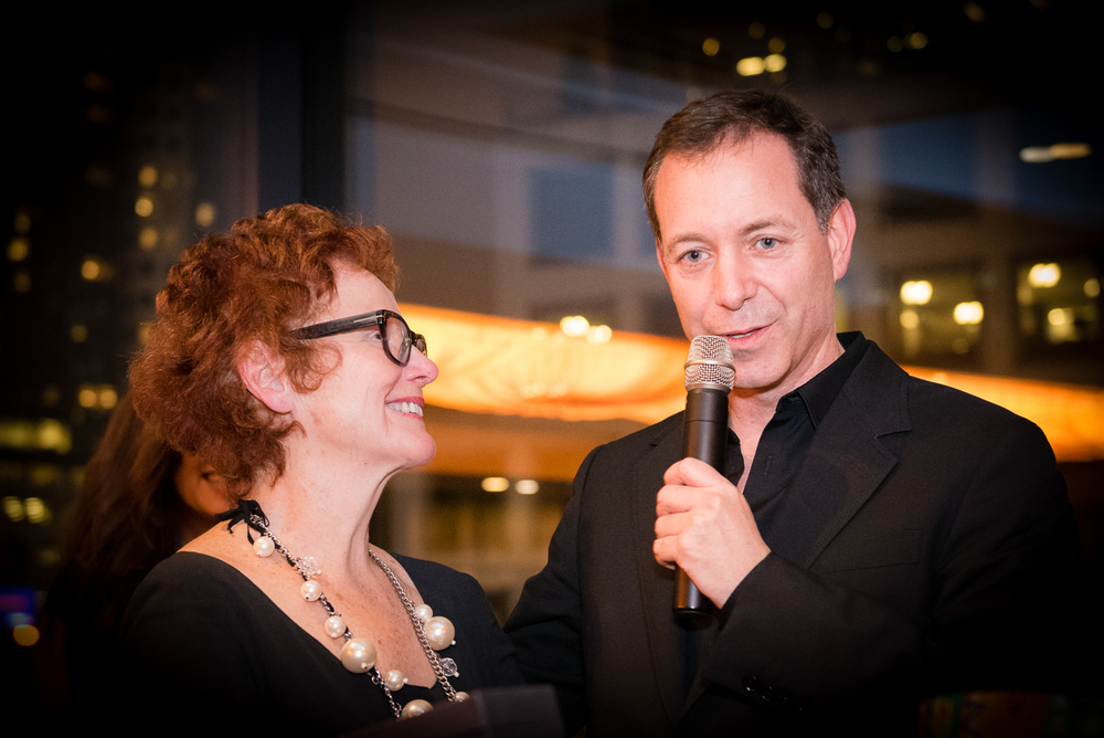 Marcello Leone, CEO of RYU with Diane Clement of Achilles Society at Achilles Recognition Dinner at Fairmont Pacific Rim Hotel. RYU supported track and field in 2015 as sponsor of the Jerome Classic. The 2016 Jerome Classic is set for June 17th on the Road to Rio for Canada's Olympic athletes