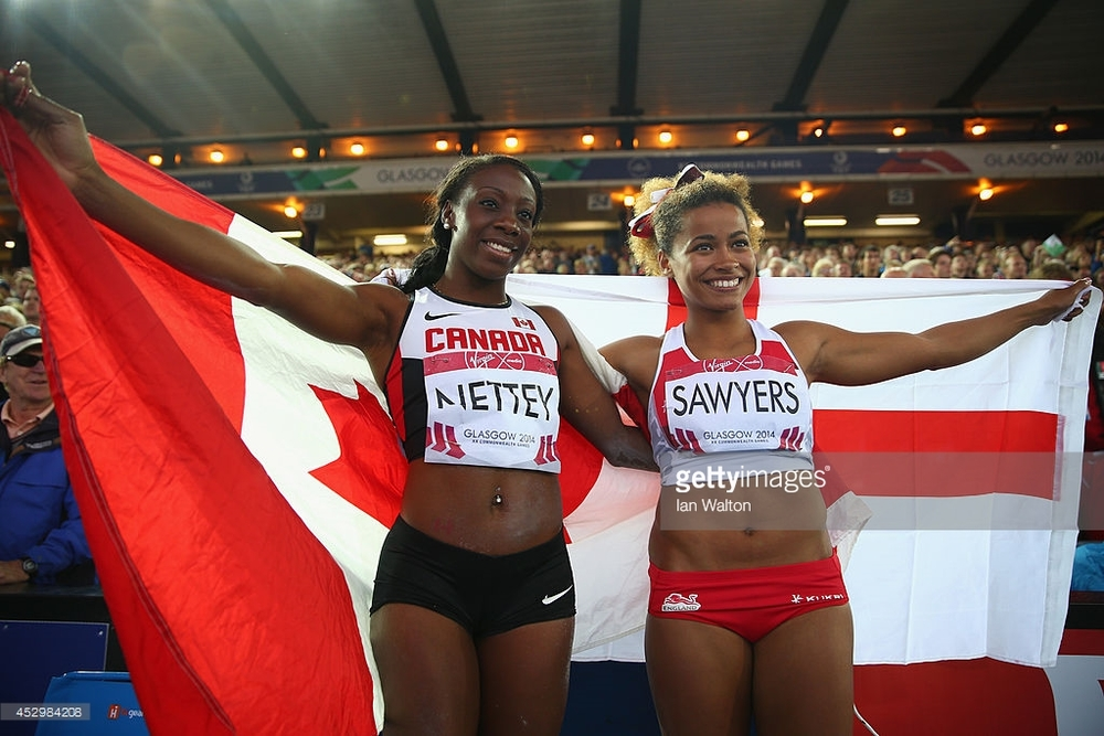 Christabel Nettey on left  photo Getty Images