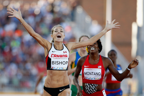 Bishop stormed to Pan Am gold in front of a home crowd in Toronto last summer
