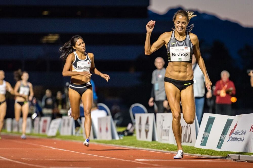 Melissa Bishop defeats Brenda Martinez in 800m  photo by Brian Cliff
