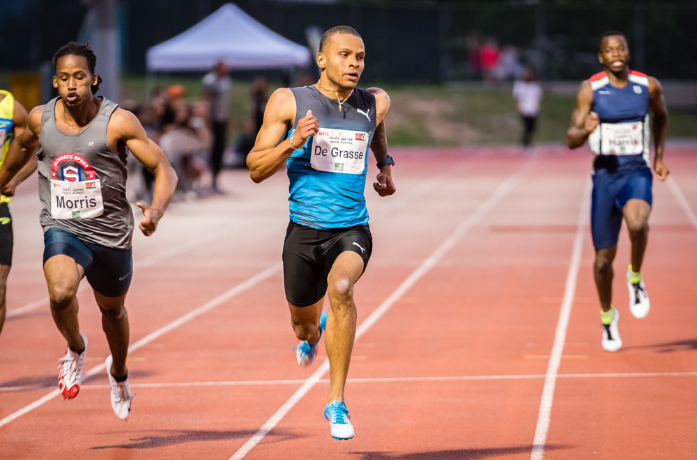 Canada's Andre De Grasse completes a double victory  photo by Brian Cliff