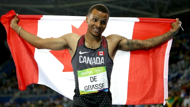 Markham's Andre De Grasse won three medals in 2016 Olympic debut. (Cameron Spencer/Getty Images)