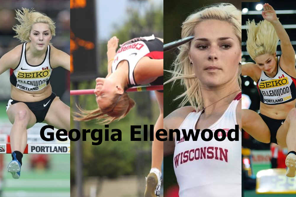 Georgia Ellenwood'95 is now competing for Wisconsin. The Langley, BC athlete has competed for Canada at the World U18 and World U20 Championships as well as the World University Games and World Indoor Championships. Her personal best in the heptathlon is 5914 points.