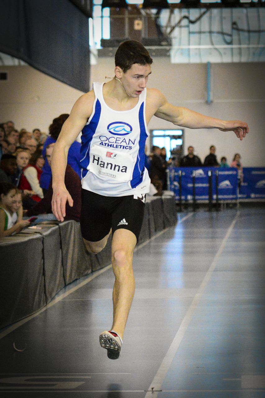 Jake Hanna, UBC sophomore will run 300m
