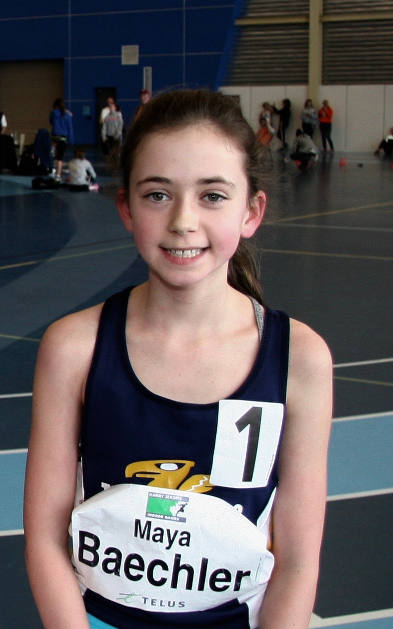 600m 12 year Girls Meet record 1:46.26 Maya Baechler  Vancouver Thunderbirds