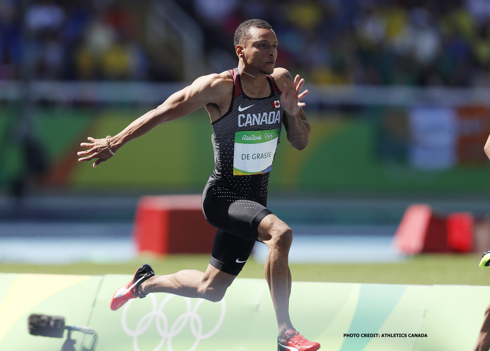 Andre De Grasse                                                                                  Photo credit: Athletics Canada
