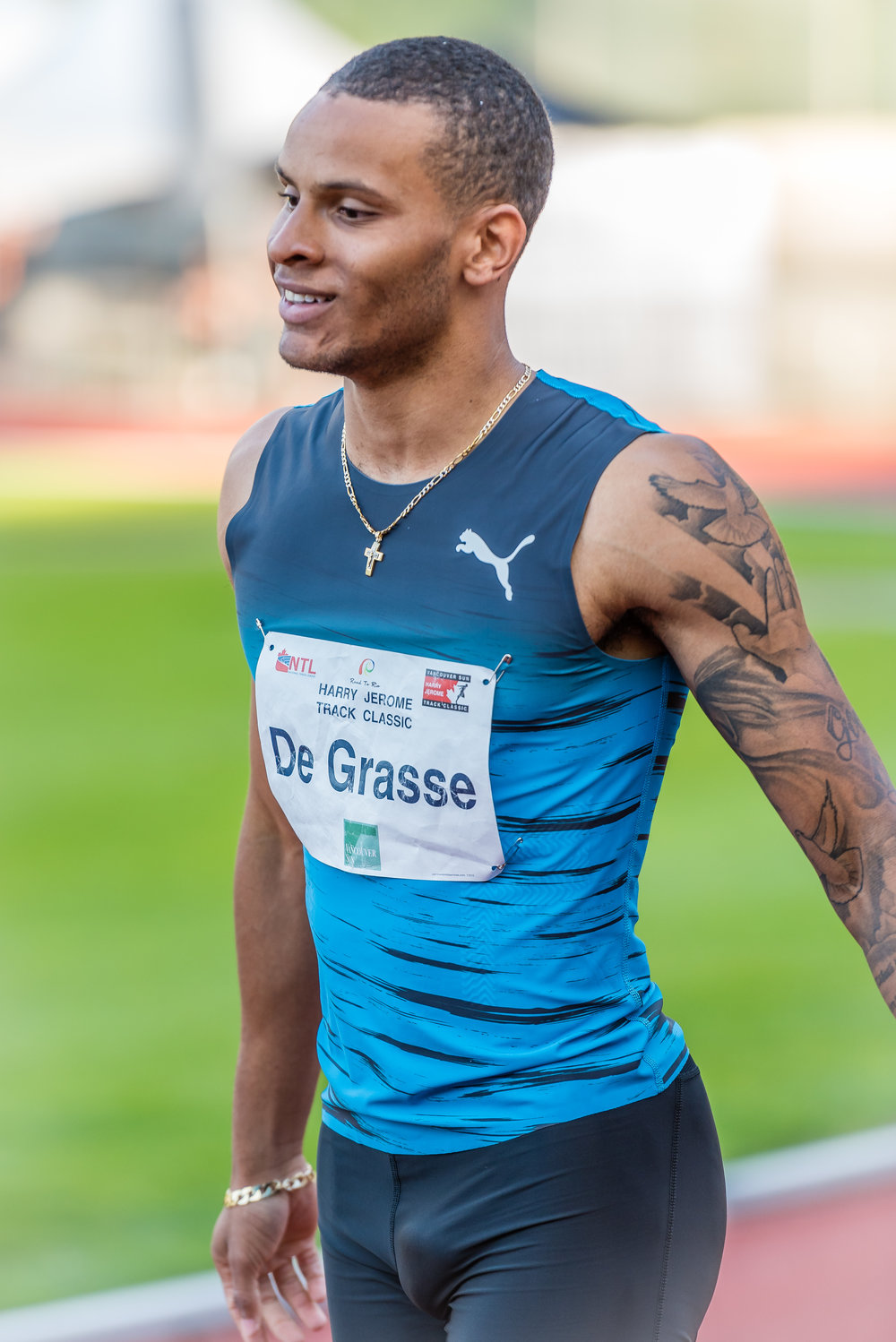 Andre De Grasse at Jerome Classic last year                                            photo credit: Brian Cliff