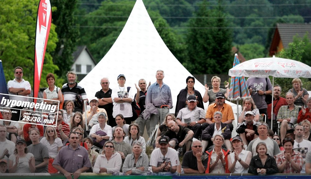 Expect a great audience enjoying track and field close up as this crowd did in Gotzis, Austria