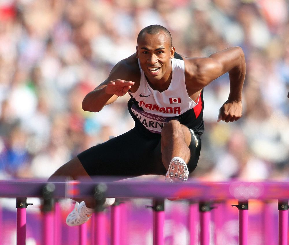 Damian Warner started his outdoor season last weekend with a partial selection of events in the decathlon in Santa Barbara, CA. In the process he jumped to the top of the Canadian list in both the 110m hurdles but the long jump as well..
