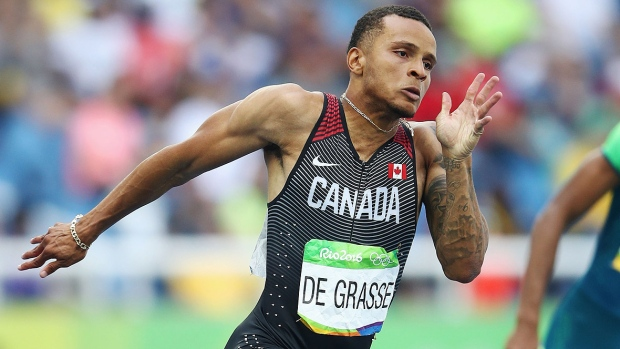 Eight months after his star turn in Rio, and with the world championships looming this summer, Andre De Grasse has barely had a chance to catch his breath. (Cameron Spencer/Getty Images/File)