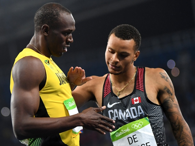 De Grasse will revive his friendly rivalry with Usain Bolt at this summer's world championships, which the Jamaican legend says will be his swan song.