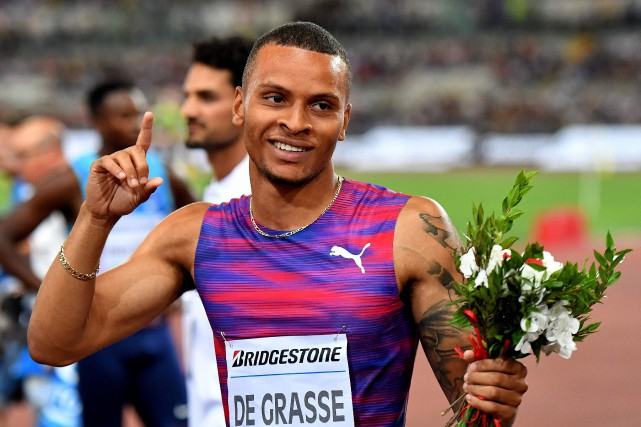 Andre De Grasse wins in Rome                                                              photo by Alberto Pizzola