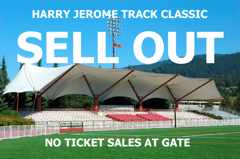 VANCOUVER SUN HARRY JEROME TRACK CLASSIC  JUNE 28TH PERCY PERRY STADIUM