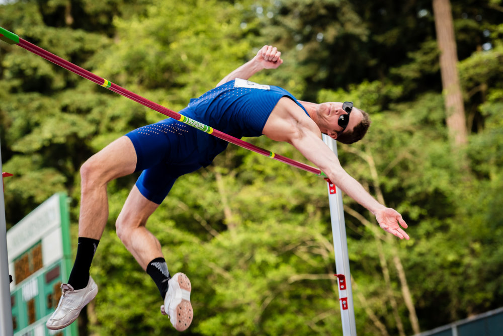 Derek Drouin to rebound in 2018                                                   photo by Brian Cliff