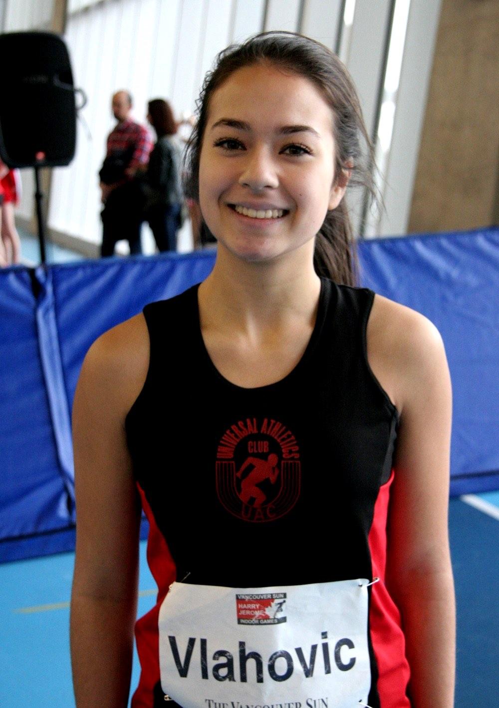 Katarina Vlahovic at Harry Jerome Indoor Games