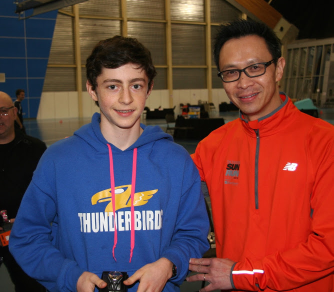 Paul Fisher with Achilles Track and Field Society member, Alvin Chow in 2015
