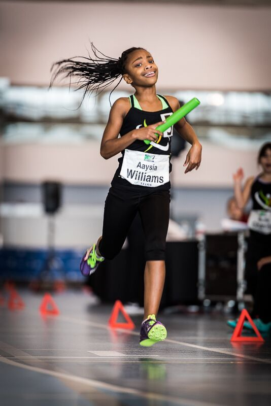 Girl's 10 years 60m 8.99 Aaysia Williams 2008 Unattached 2018 photo by Brian Cliff