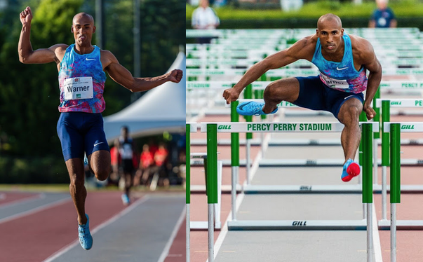 Damian Warner at 2017 Vancouver Sun Harry Jerome Track Classic   photos: Brian Cliff
