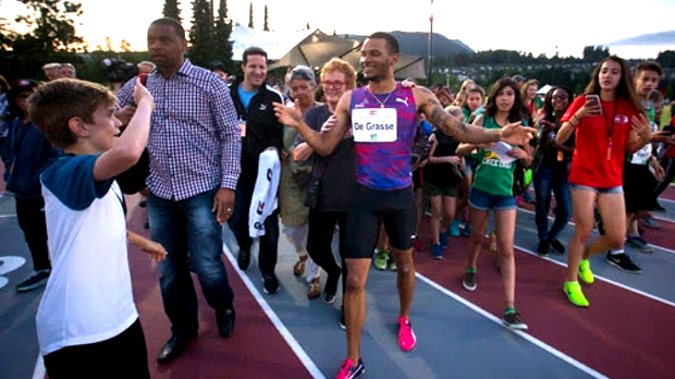 Andre De Grasse at 2017 Vancouver Sun Harry Jerome International Track  Classic