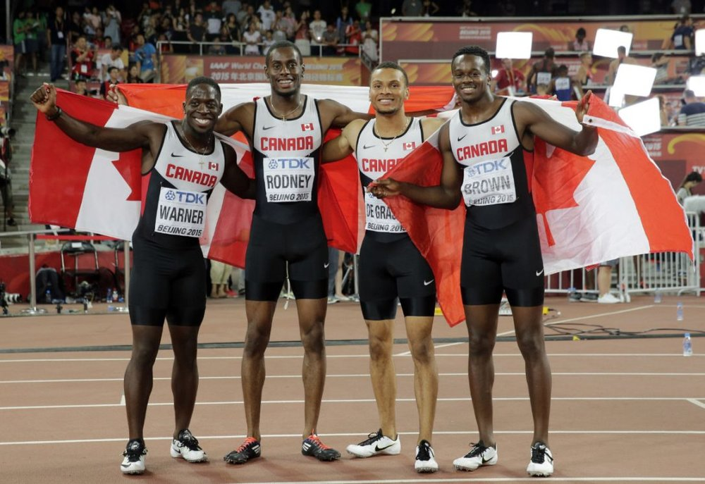 Canada's sprint relay team