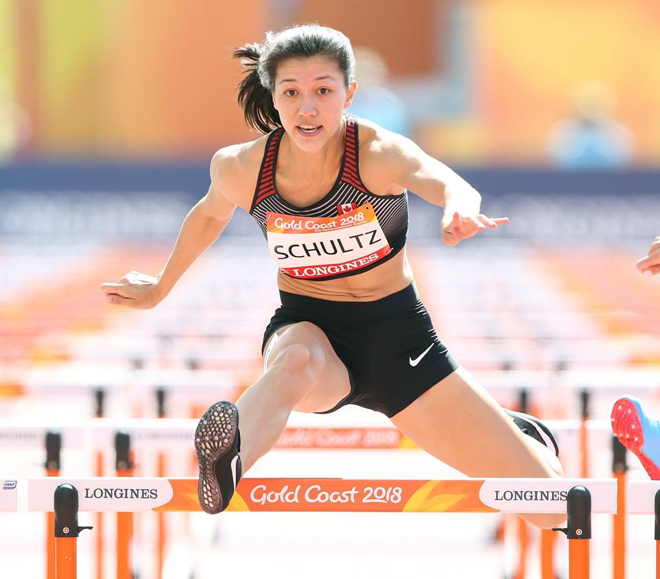 Nina Schultz competing at her first international competition as a senior set a personal best in the 2 day heptathlon with 6133 points in the 7 event challenge.  The New Westminster athlete set personal bests in high jump -1.84m, 100m hurdles-13.47(0.6) and the 800m-2:17.40.