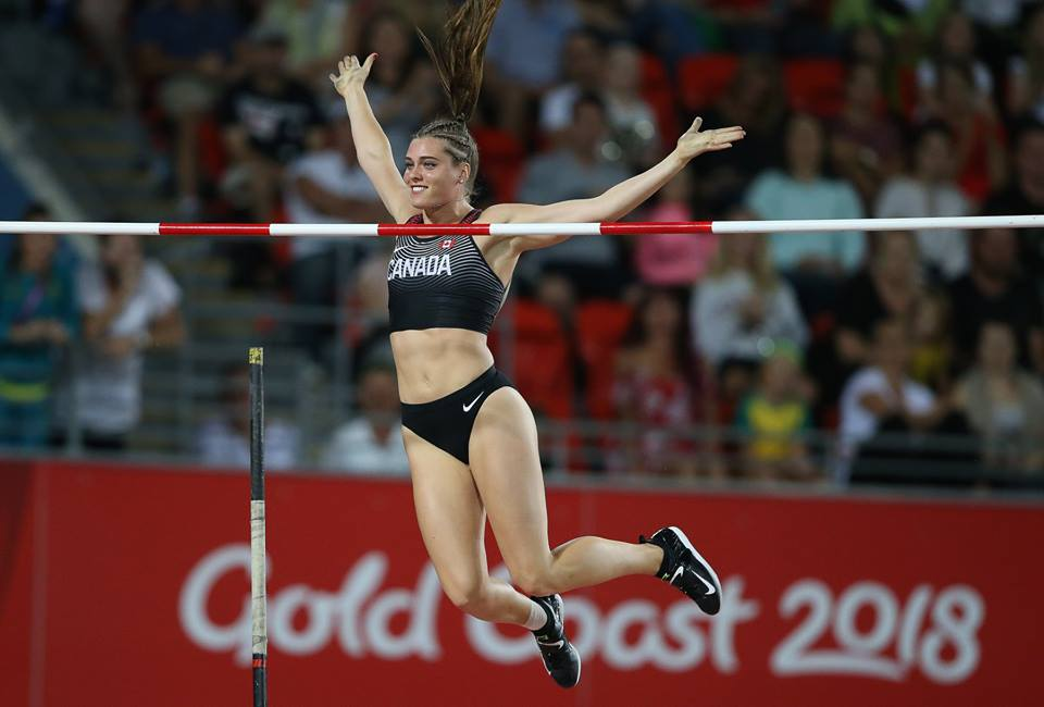 "Taking pole vault, and the Canadian record, to new heights every time she steps foot in a stadium, Alysha Newman entered the women's pole vault final at 4.30 metres at the Commonwealth Games. After setting a new Games record with a vault of 4.65 metres, and the Gold medal on the line, Newman would pass on her final attempt at 4.70 metres. With the crowd on its feet, she cleared 4.75 metres on her first attempt winning Gold in record-setting style and the Canadian record.   The Delaware, ON native said ""It's a stepping stone. I have two years until the Olympics; it's my first Gold internationally other than Pan Am Juniors. I am happy to finally get my senior medal. I'm stoked."""