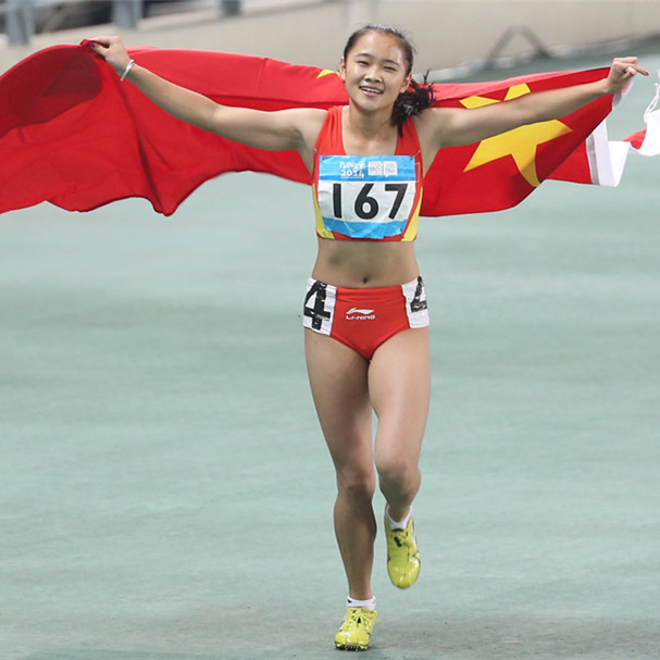 LIANG Xiaojing wins Asian Games sprint title for China