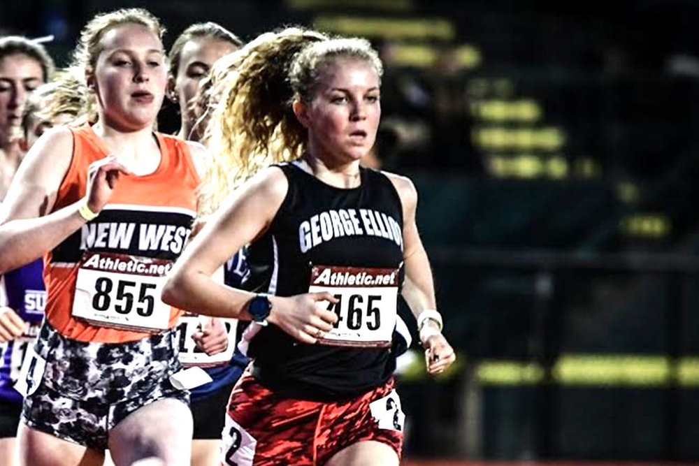 Taryn O'Neill Of George Elliot Secondary leads North American high school runners