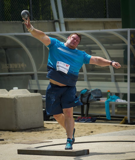 Coach Dylan Armstrong knows the challenge of international competition  Photo: Brian Cliff