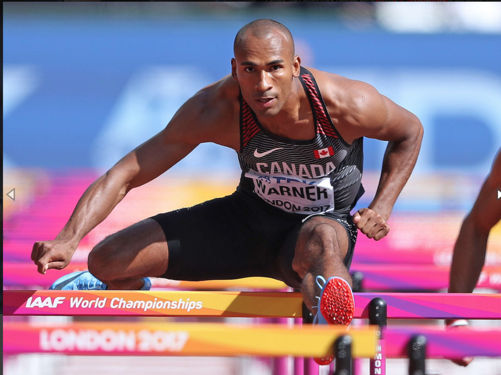 Damian Warner will run the 110m hurdles at the Jerome classic     photo :Athletics Canada