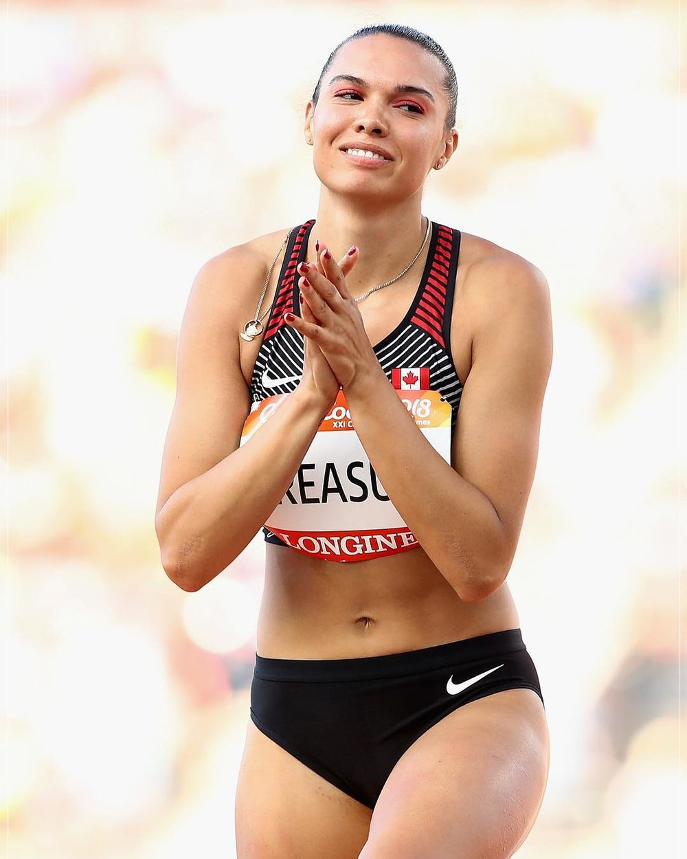 Alyx Treasure, Olympian searching for Debbie Brill's record   photo: Athletics Canada