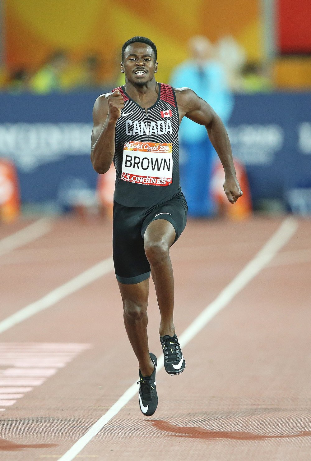Aaron Kingsley Brown takes silver in Australia's Commonwealth Games this spring.  photo: Athletics Canada