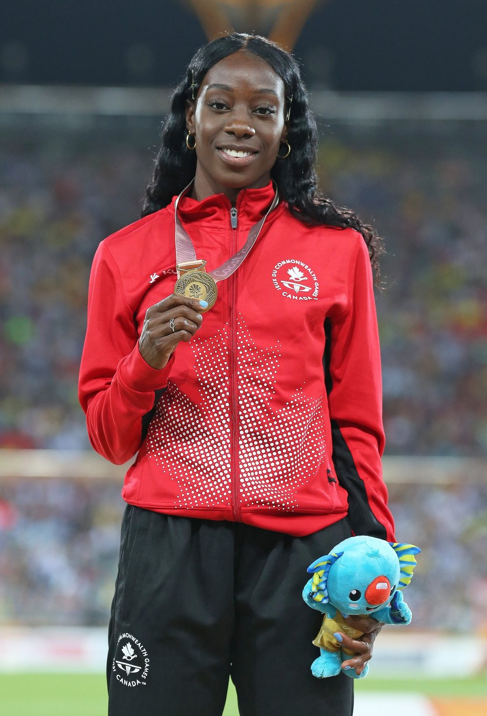 Christabel Nettey won the gold at Commonwealth Games