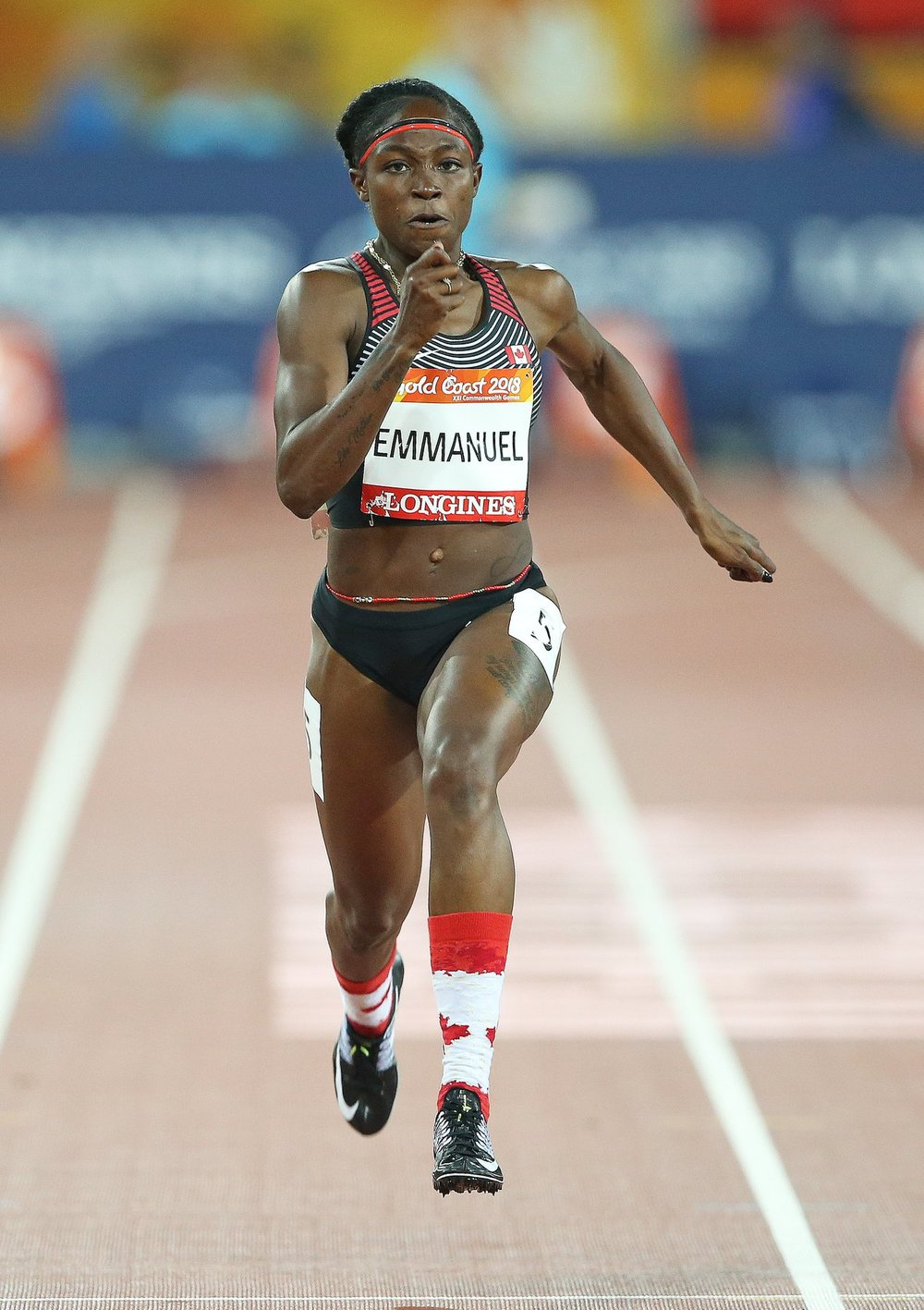 christabel netted win 100m in China Canada Team Sprint 100m  photo: Athletics Canada