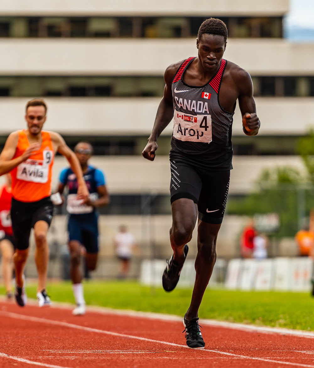 Marco Arop wins Jerome Classic 800m  photo: Brian Cliff
