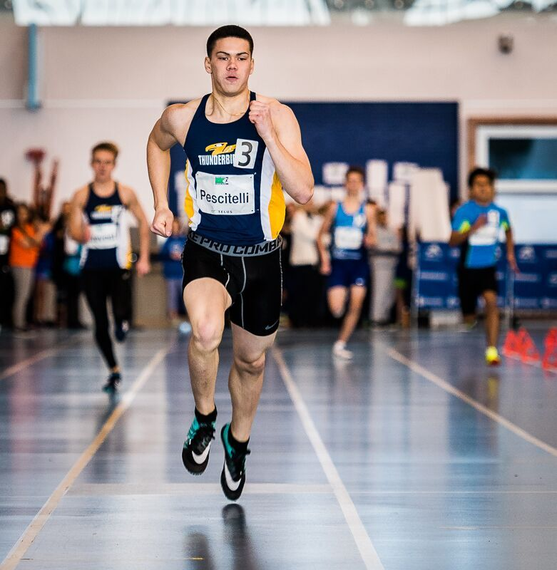 Alex Pescitelli was BC High School Champion over 200m in 2018