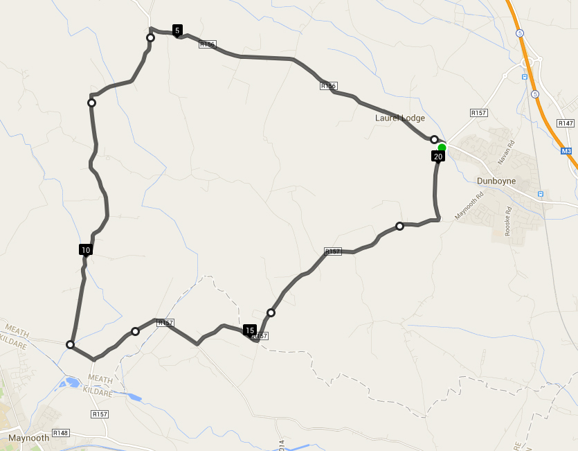 Click on the map for more details of the route