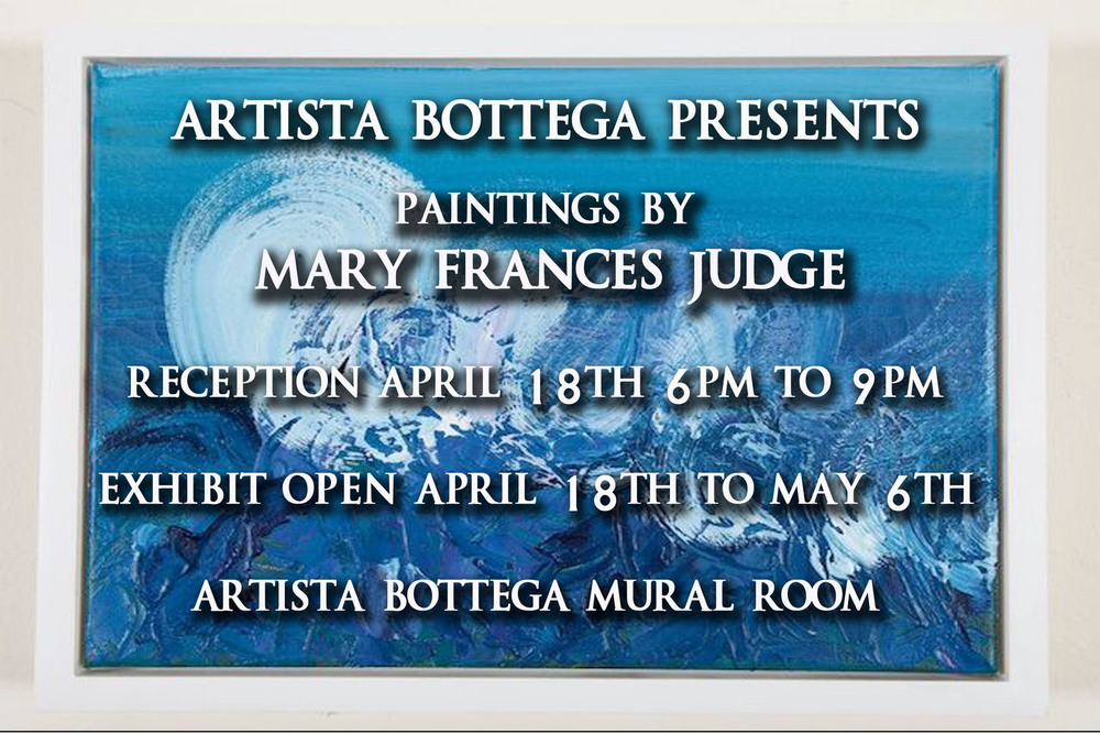 Artist receptionApril 18th 6pm to 9pm