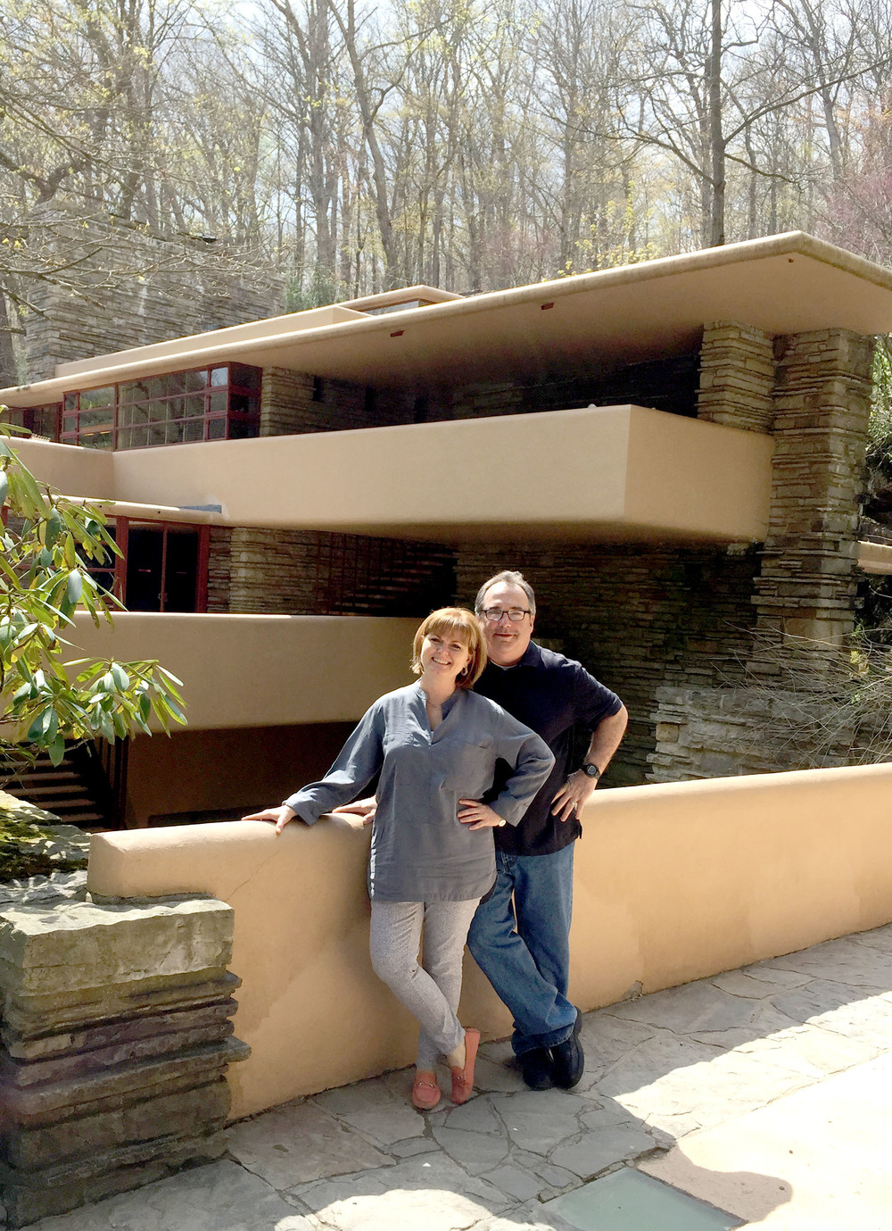 Tom & Gloria Curtis At Falling Water